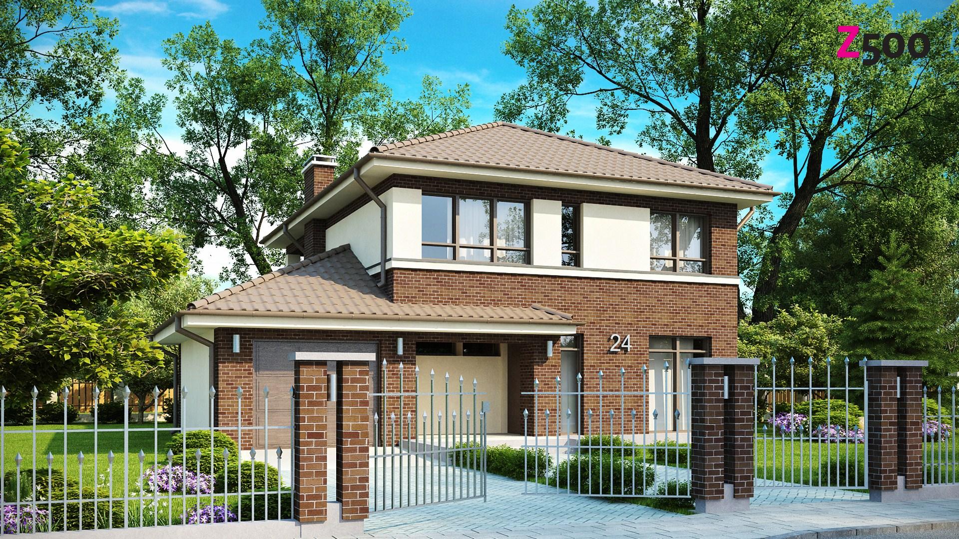 Proiect de Casa cu etaj si garaj 313