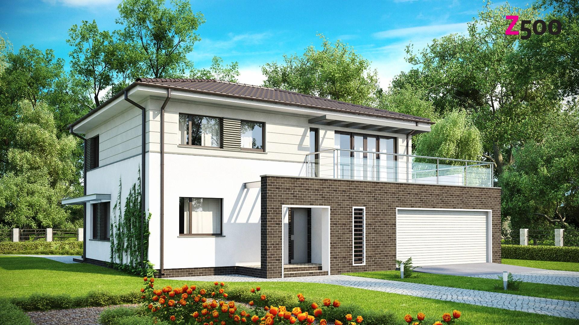 Proiect de Casa cu etaj si garaj pentru 2 automobile 315