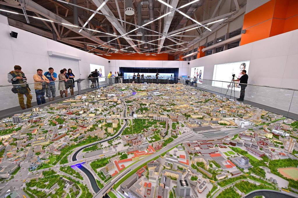 Macheta arhitecturala oras Sc.1 :100 Predestinata pentru expozitii www.proiectari.md
