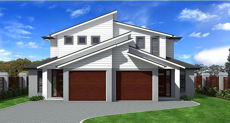 Proiect de casa Duplex cu 2 etaje si cu garaj