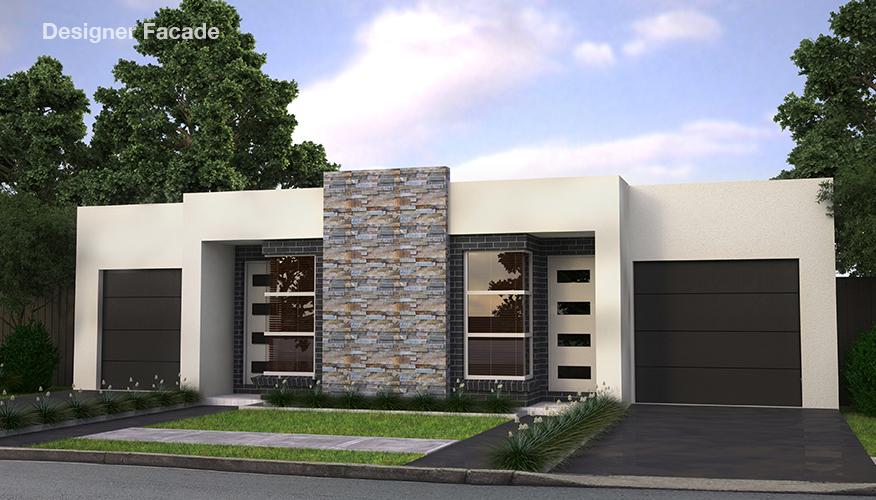 Проект двухэтажного жилого дома, дуплекс с летней террасой