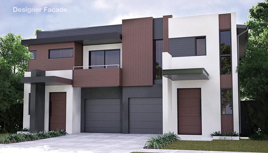 Proiect de casa Duplex cu 2 etaje si cu garaj, Mk5