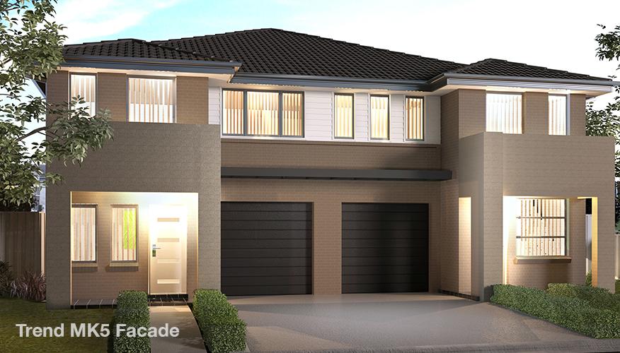 Proiect de casa Duplex cu 2 etaje si cu garaj, Mk6