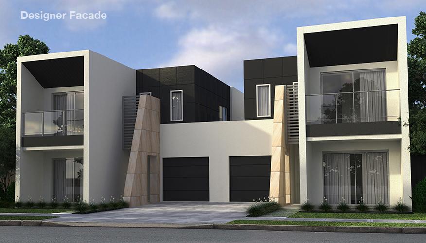 Proiect de casa Duplex cu 2 etaje si cu garaj,Mk7