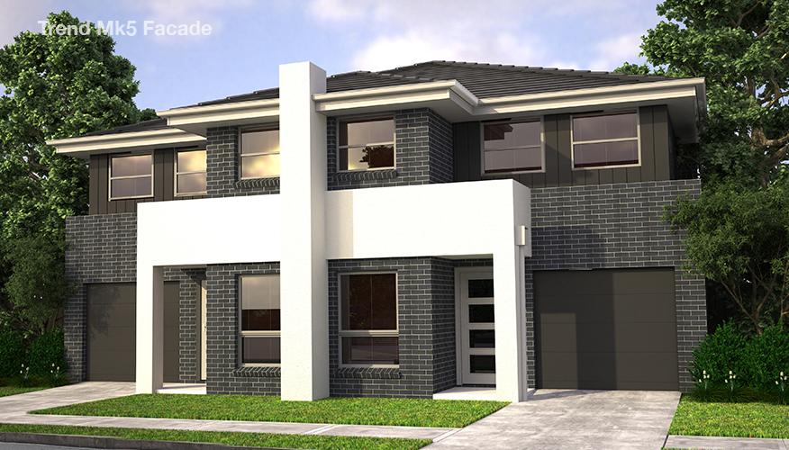 Proiect de casa Duplex cu 2 etaje si cu garaj, Mk8