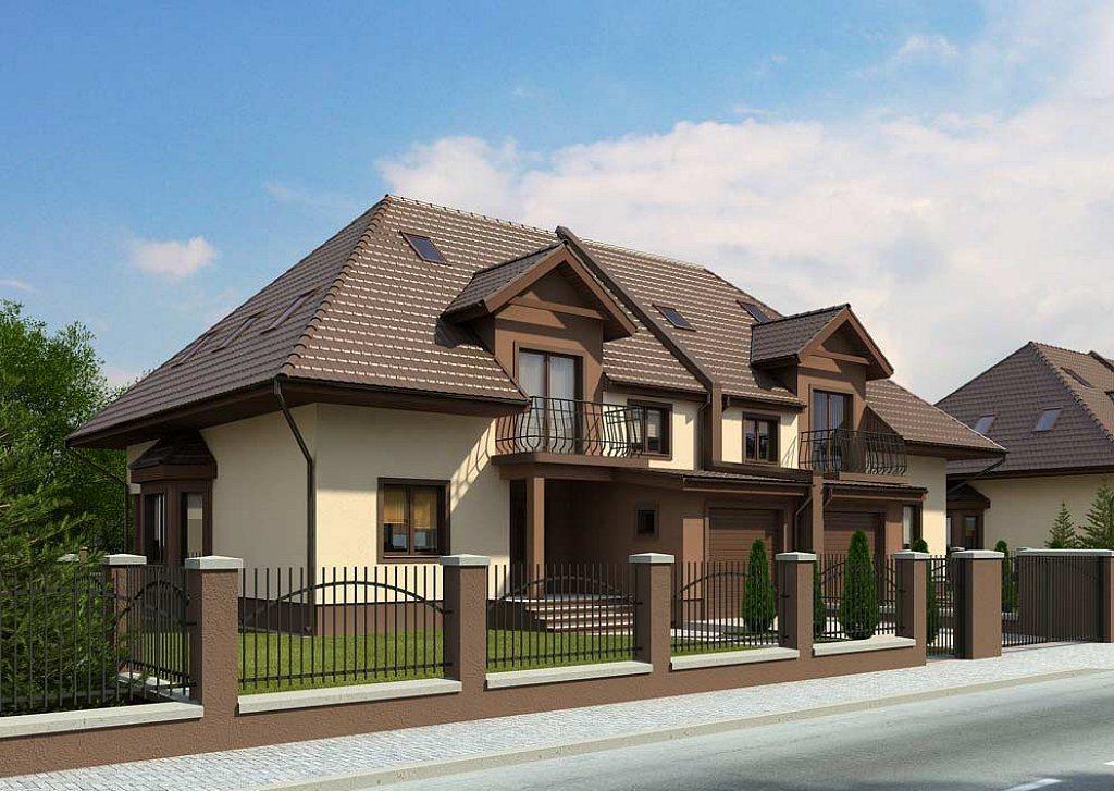 Proiect de casa duplex cu 2 etaje proiectari si constructii for Proiecte case cu garaj