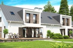 proiect de casa duplex cu mansarda www.proiectari.md