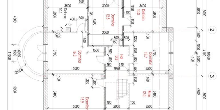 planul etajul 2 casa mansarda