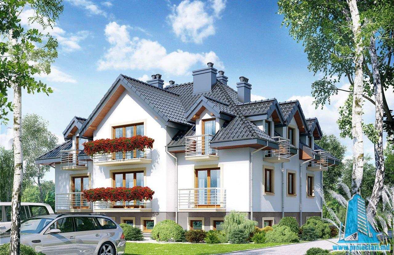 Casa de locuit Multifamiliala cu regimul de inaltime D+P+E cu sase apartamente si garaj subteran