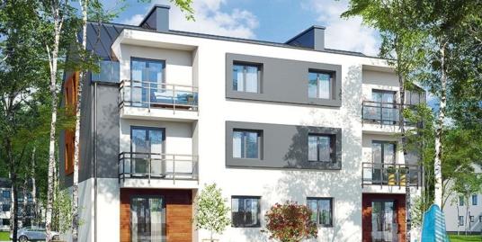 Проект многоквартирного трехэтажного дома с 12-ти квартирами и наружной парковки-100510