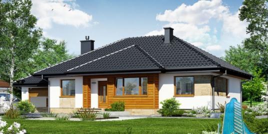 Проект жилого дома с партером гаражом для двух автомобиля и летней террасой-100531