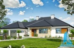 proiect de casa cu parte, garaj www.proiectari.md
