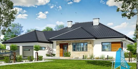 Проект жилого дома с партером гаражом для двух автомобиля и летней террасой-100532