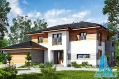 proiect de casa cu parte si etaj, garaj www.proiectari.md