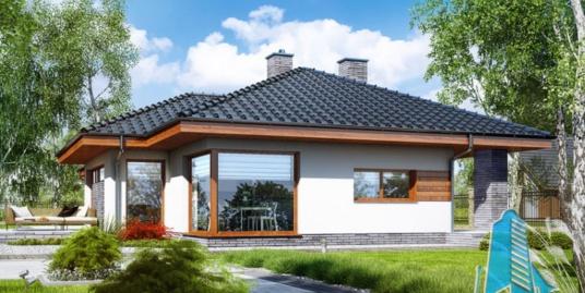 Проект жилого дома с партером и летней террасой-100539