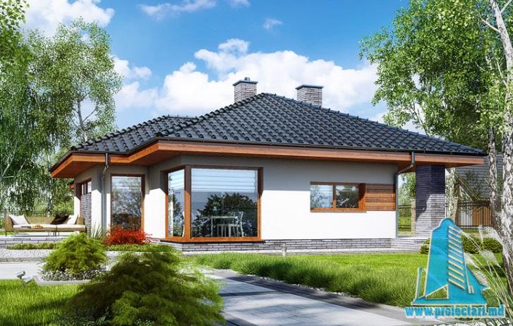 Proiect de casa cu parter si terasa de vara