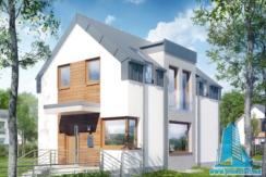 Proiect de casa cu pivnita, parter, etaj, terasa, garaj pentru un automobil