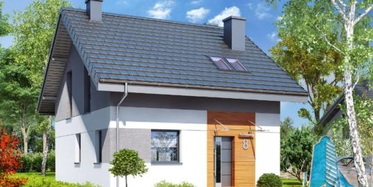 Проект жилого дома с  мансардой и летней террасой – 100593