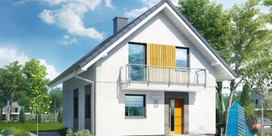 Проект жилого дома с  мансардой -100595