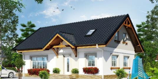 Проект жилого дома с  мансардой -100596