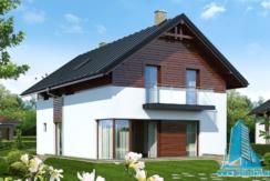 Proiect de casa cu parter, etaj