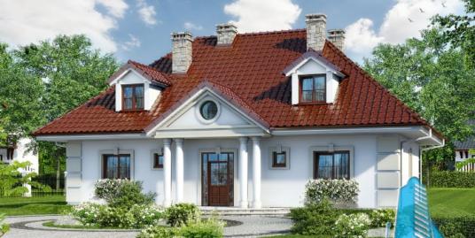 Проект жилого дома с  мансардой -100599