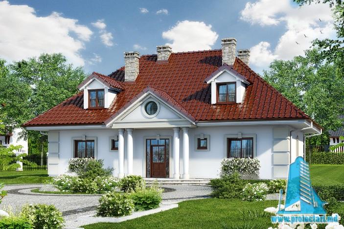 Proiect de casa cu parter, mansarda -100599