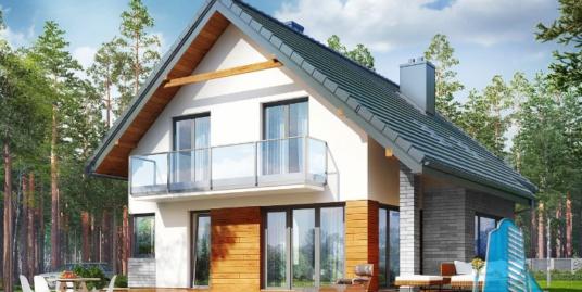 Проект жилого дома с  мансардой -100601