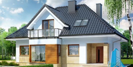 Проект жилого дома с  мансардой  -100604