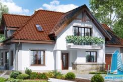 proiect de casa cu parte mansarda, garaj www.proiectari.md