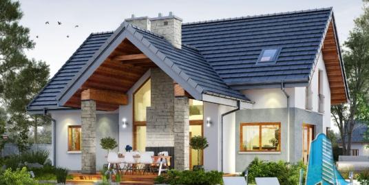 Proiect de casa cu parter, mansarda si garaj pentru un automobil-100619