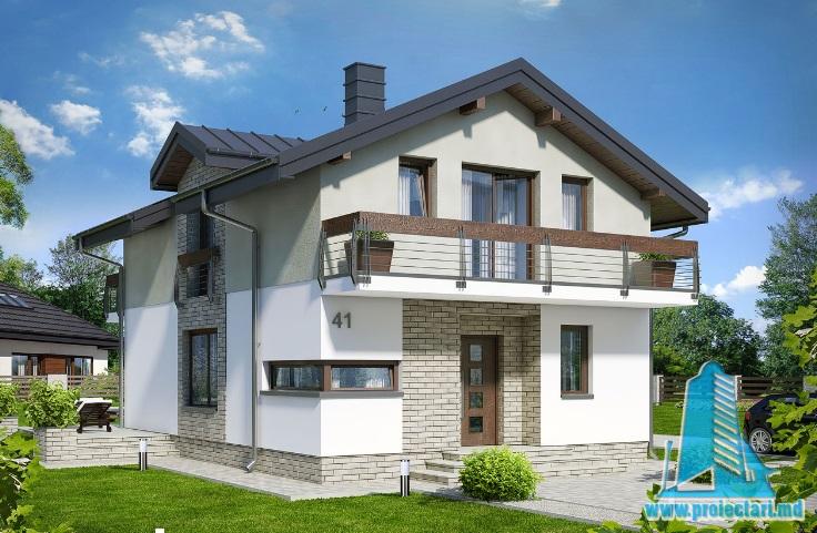 Proiect de casa cu parter, etaj -100622