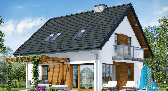 Proiect de casa cu parter, mansarda