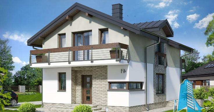 Проект двухэтажного жилого дома -100622