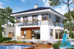 proiect de casa cu 2 etaje, garaj www.proiectari.md