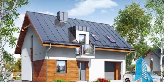 Проект жилого дома с мансардой и летней террасой 100548