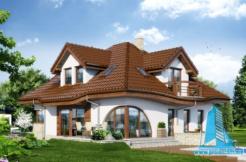Proiect de casa de elita cu parter si mansarda