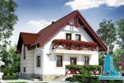 Proiect de casa cu demisol mansarda garaj