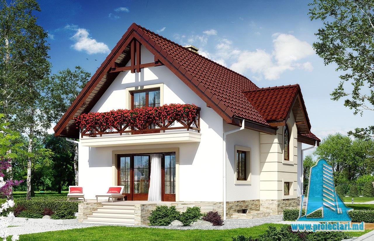 Casa de locuit cu parter si mansarda cu terasa de vara – 100550