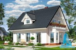 Proiect de casa cu mansarda si terasa de vara