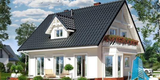 Проект жилого дома с  мансардой – 100553