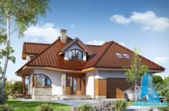 Proiect de casa de elita cu mansarda si garaj