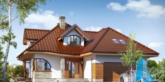 Проект жилого дома с  мансардой, гаражом для двух автомобиля 100552 – Chisinau