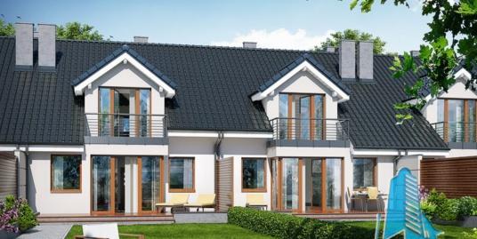 Проект жилого дома с партером, мансардой и гаражом для одного автомобиля-100563