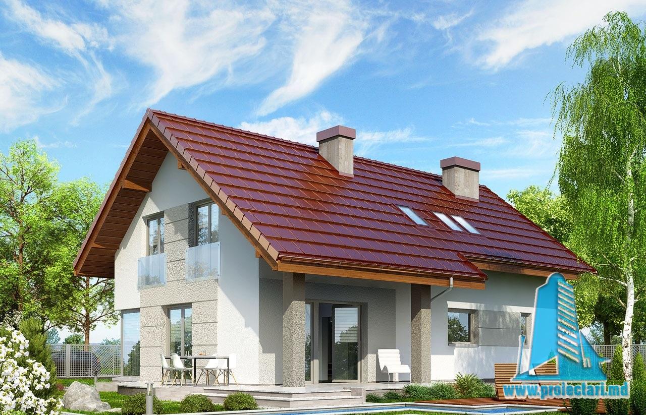 Casa de locuit cu mansarda si garaj pentru o masina 100545