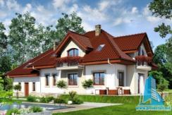 Proiect de casa cu mansarda si garaj pentru 2 automobile