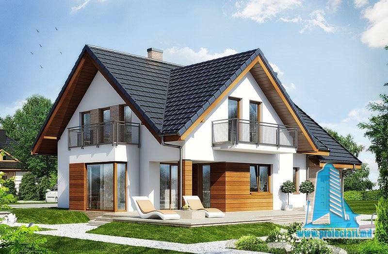 Casa de locuit cu mansarda si garaj – 100554