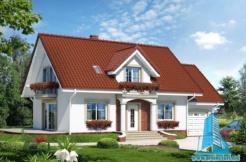 Proiect de casa cu mansarda si garaj pentru un automobil
