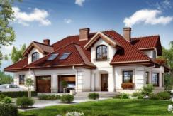 Proiect de casa cu mansarda si garaj pentru o masina de tip duplex