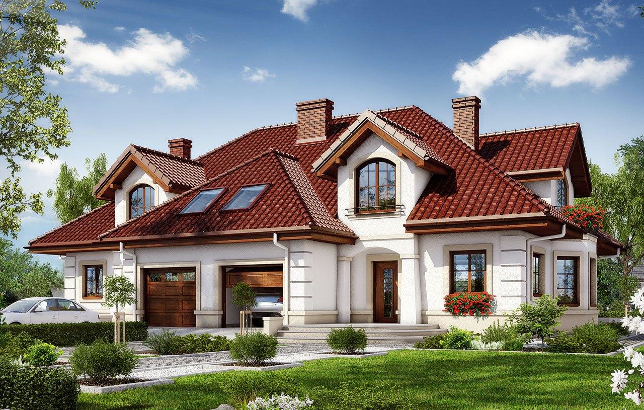 Casa de tip duplex cu masarda si garaj pentru o masina – 100557